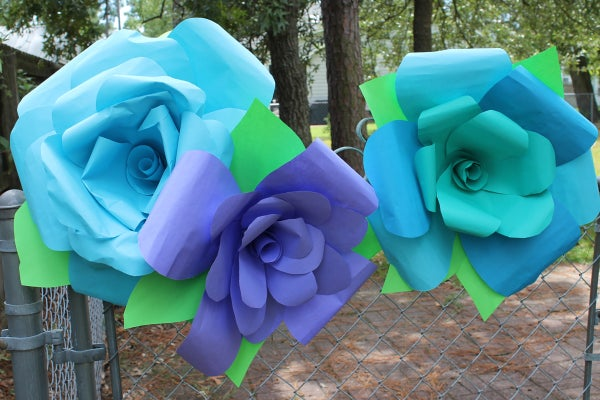 Giant DIY Paper ROSE Flowers!