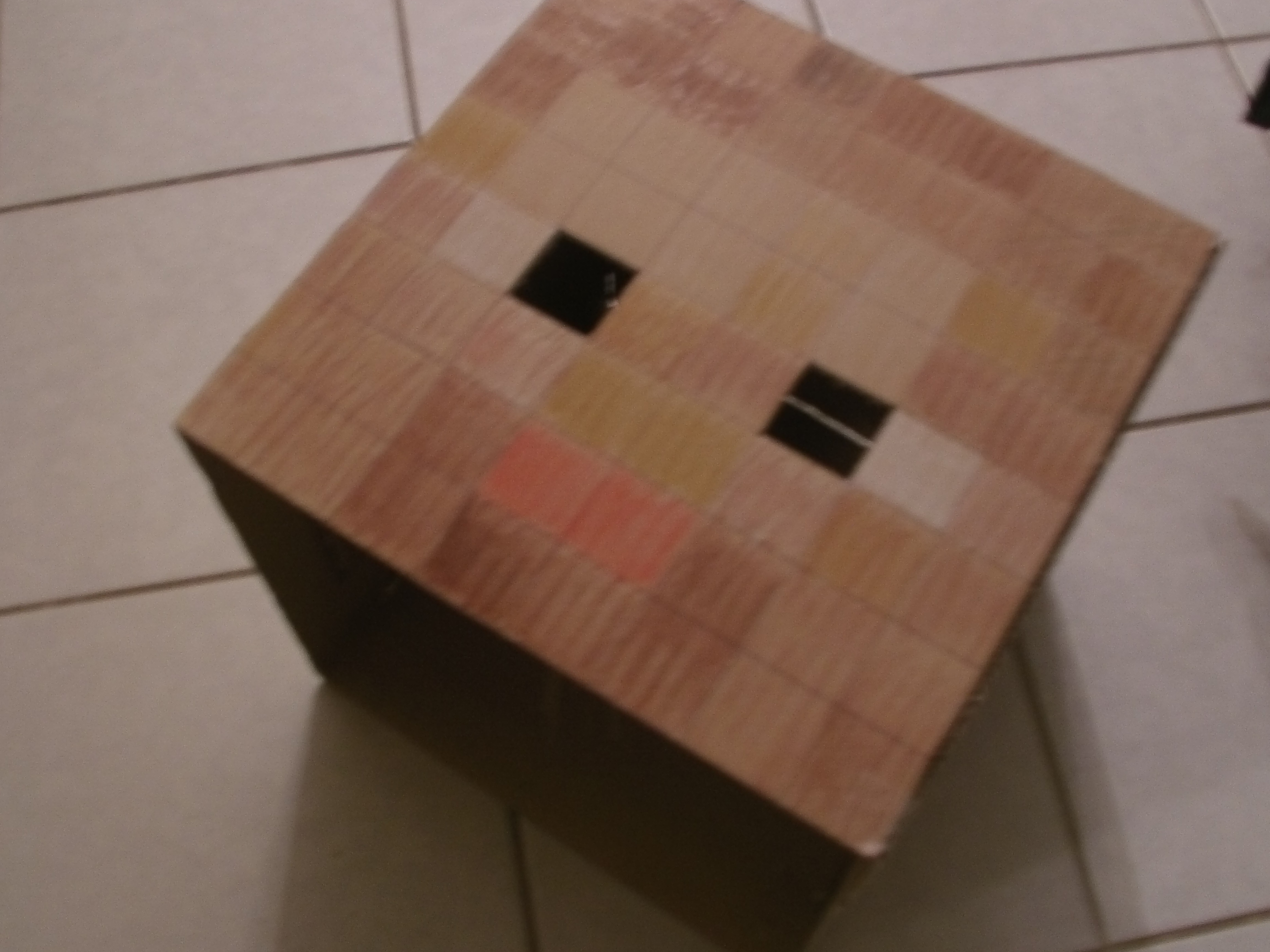 Minecraft Steve head cardboard