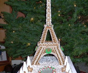 Eiffel Tower in Gingerbread