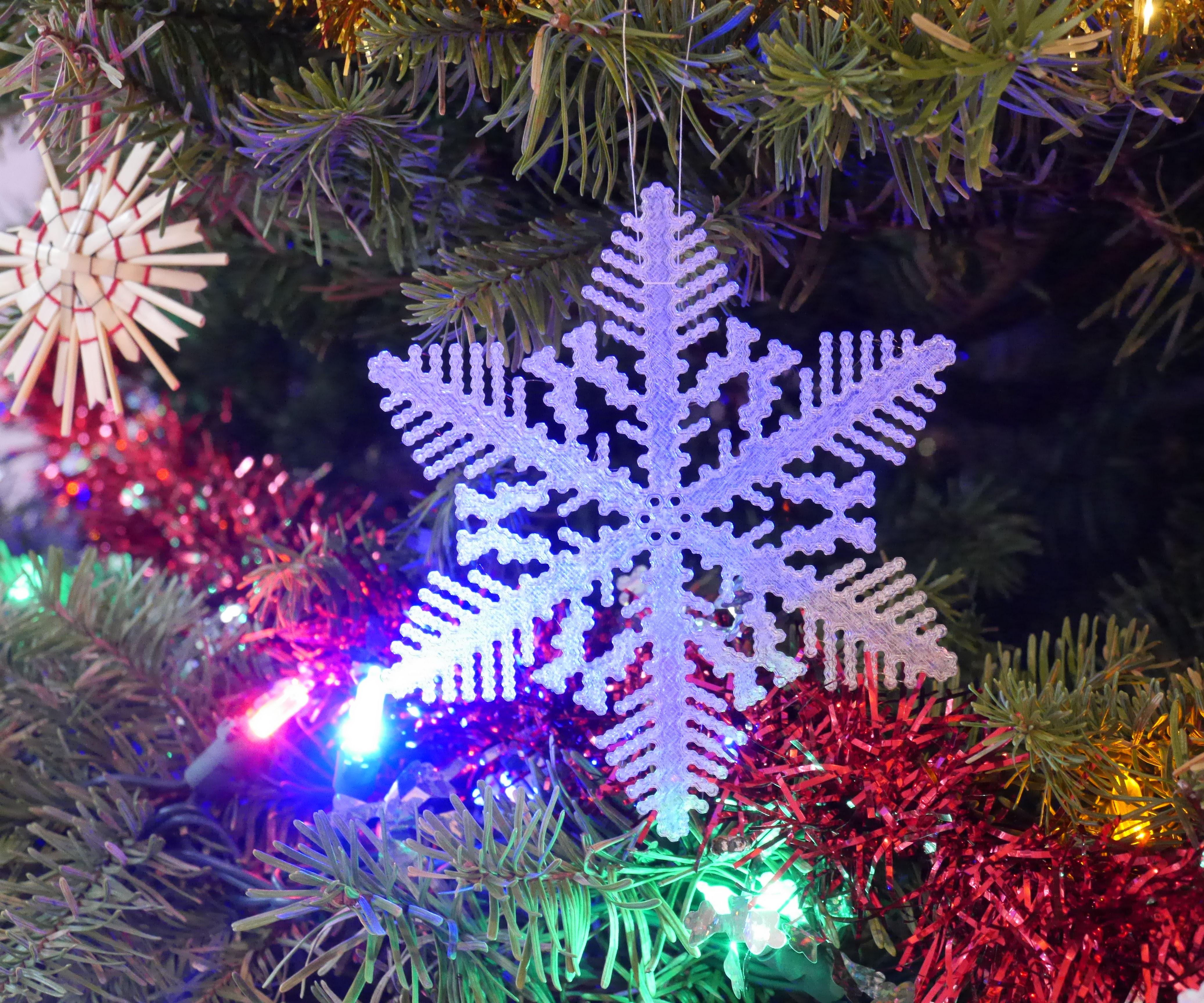 3D Print Simulated Snowflakes