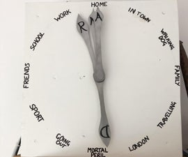 'Weasley' Location Clock With 4 Hands