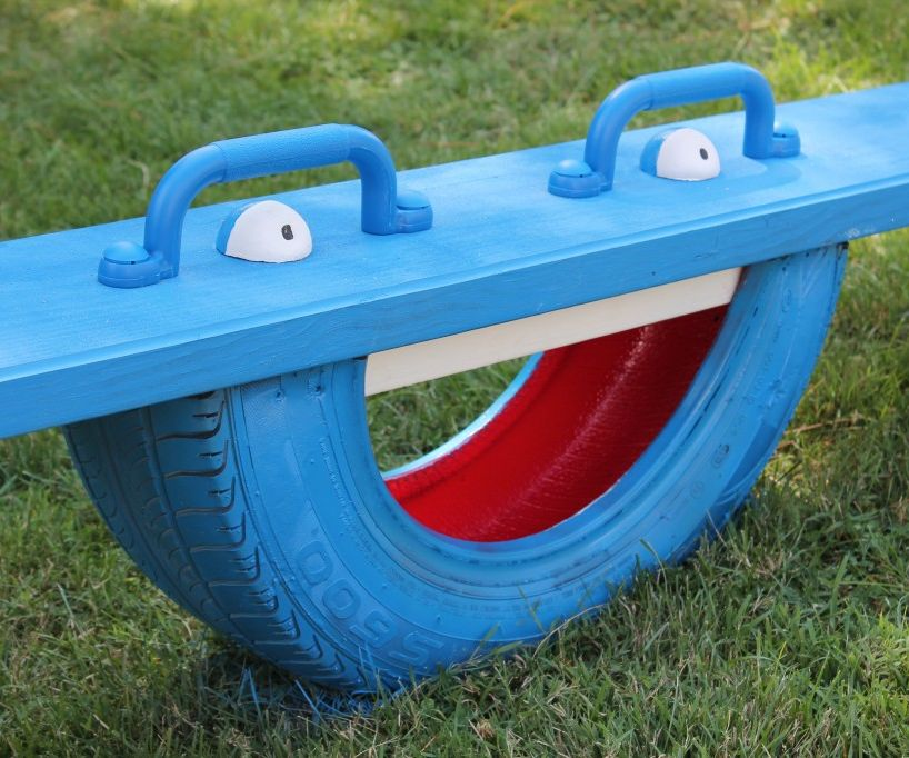 Make a Tire Totter