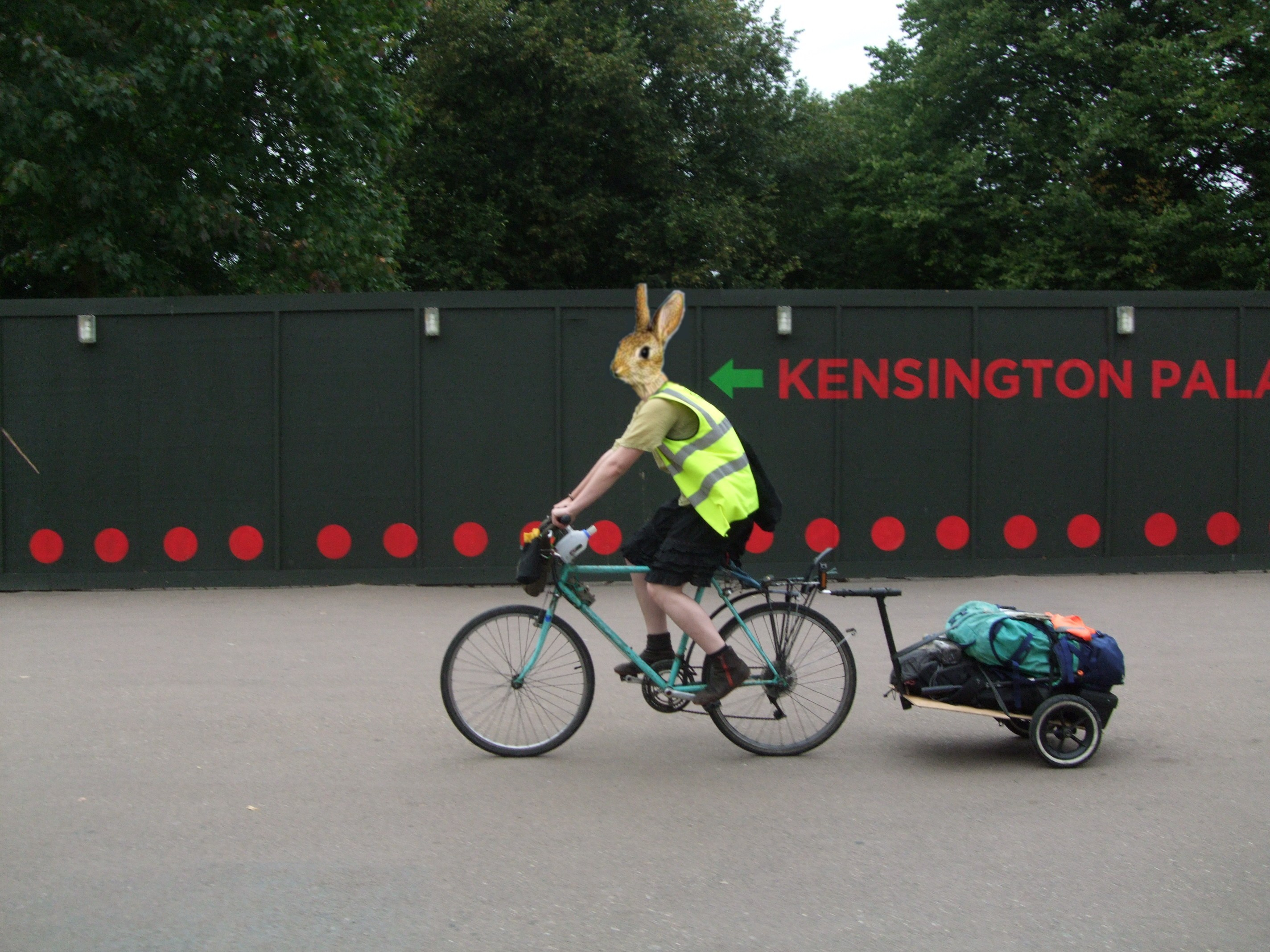lightweight bike trailer from rubbish