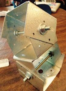 Pole Mounted X/Y Static Adjustable Solar Panel Bracket