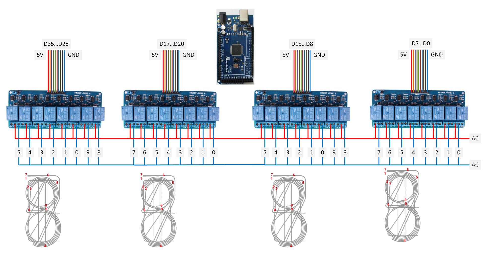 EL Wire Clock With Relay