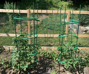 Tomato Cages From an Old Garden Hose