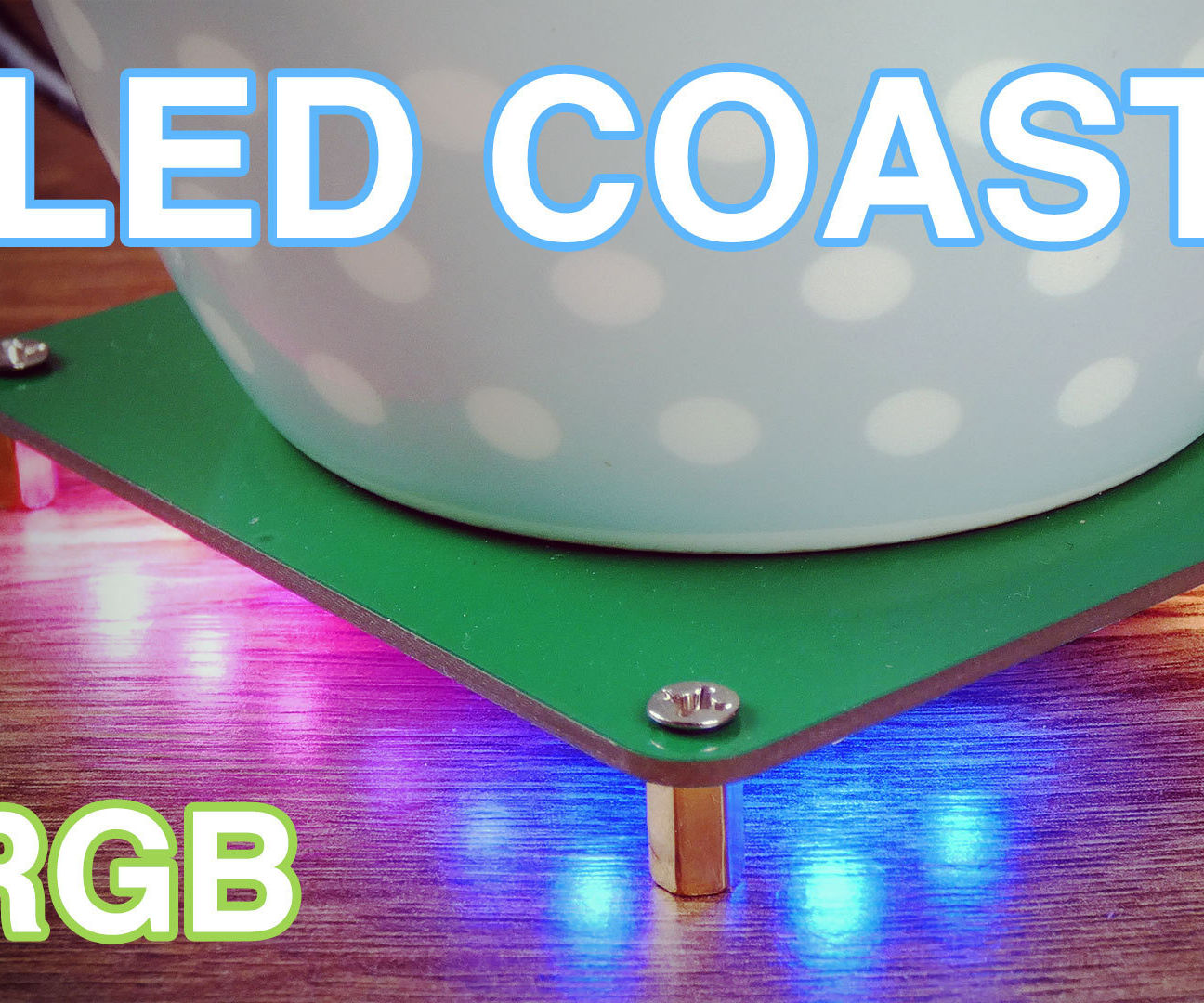 RGB LED Coaster Using the Arduino Compatible Piksey Atto