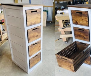 How to Make a Dresser (with Crates for Drawers)