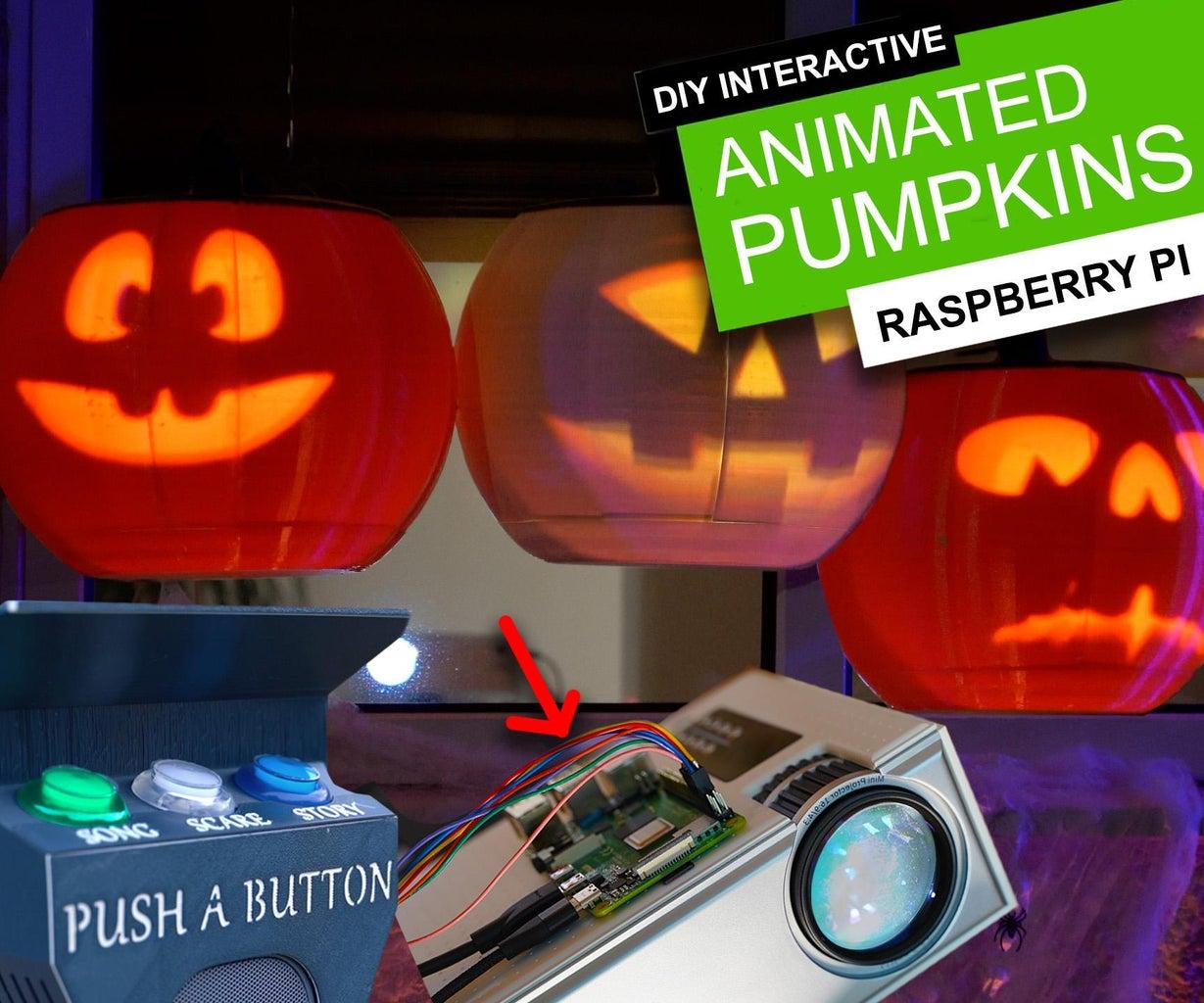 DIY Interactive Animated Pumpkins - 3D Printed   Raspberry Pi