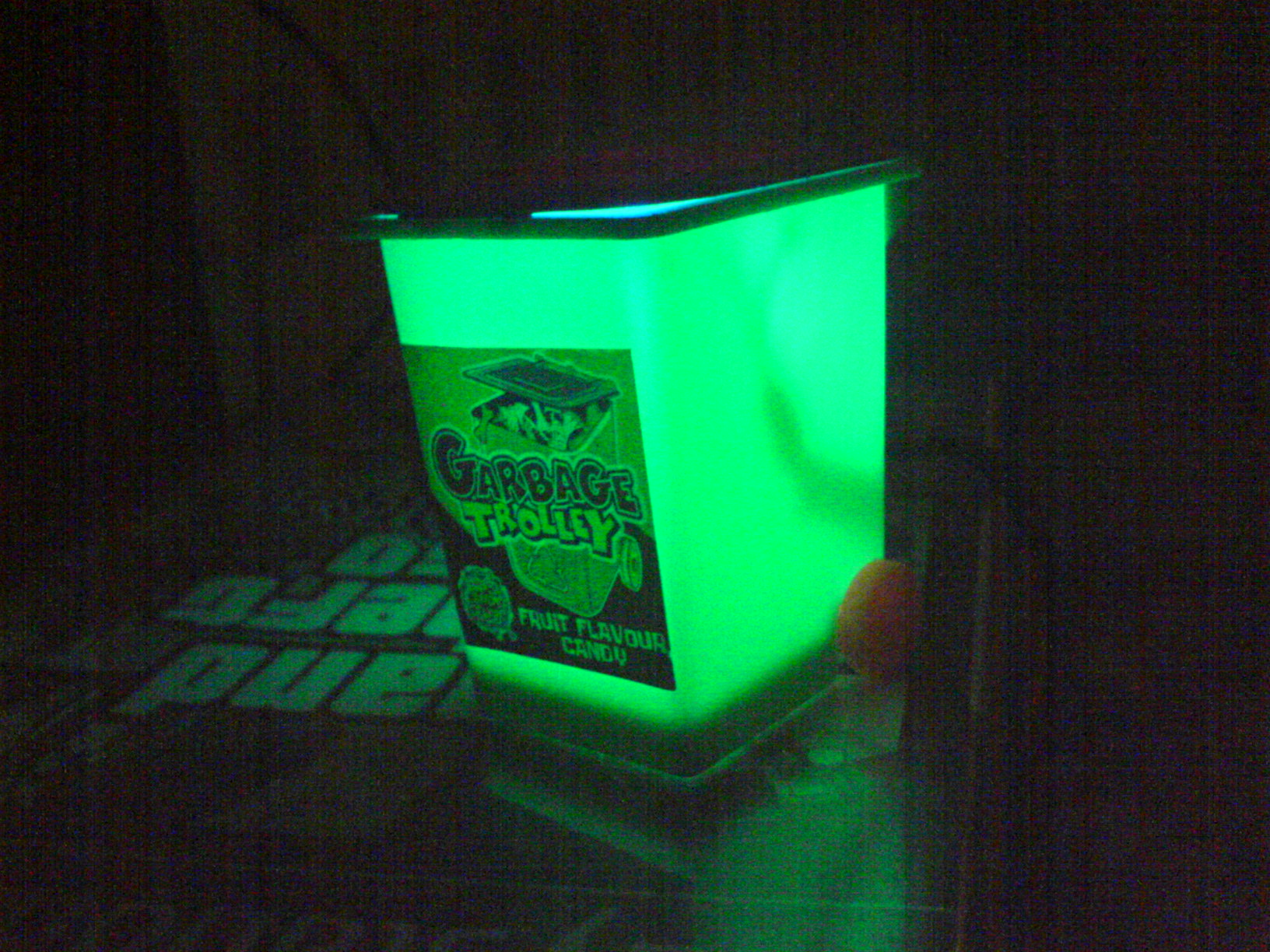 Trash can (or other sweet box) usb light