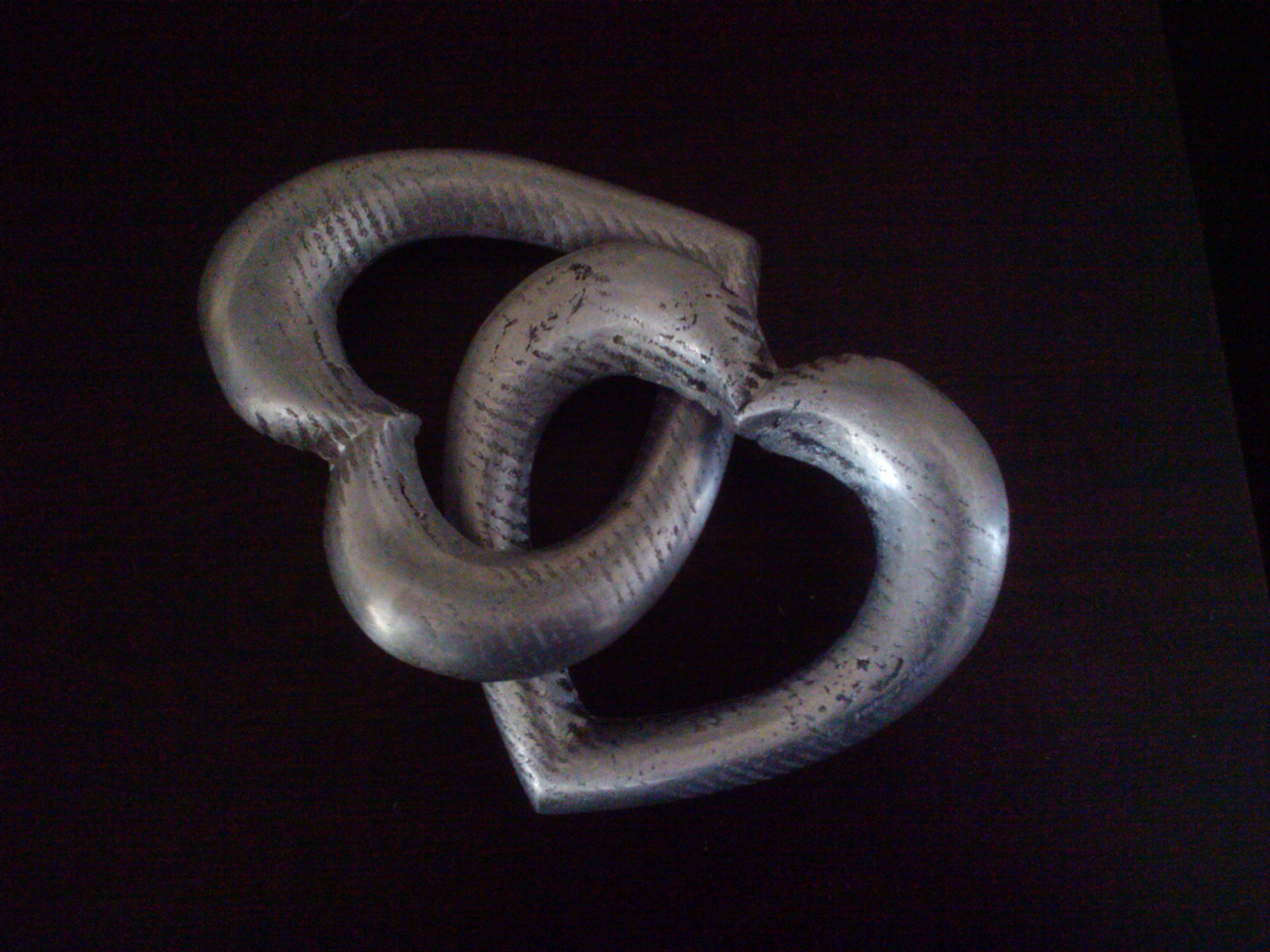 Entwined Hearts Cast in Aluminum