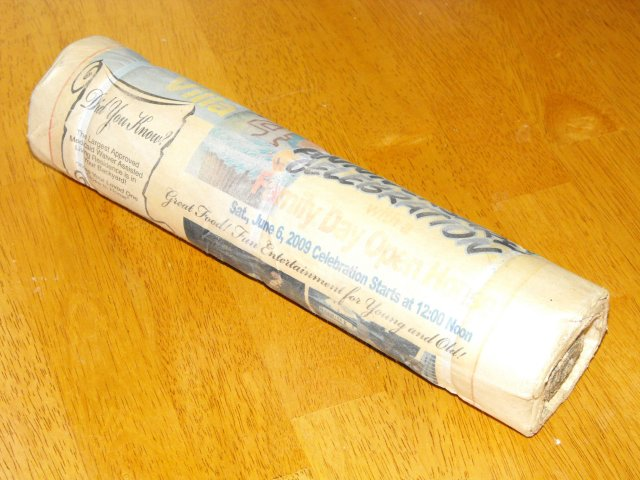 Turn newspapers & junk mail back into logs