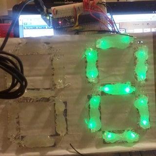 DIY Large LED Lit 7 Segment Display