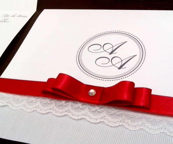 Classic Wedding Invitation With Lace DIY