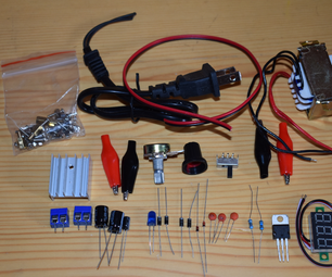 DIY an Adjustable Power Supply Source With Voltmeter Function