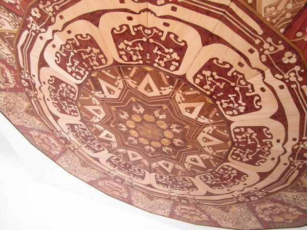 Laser-cut Wood Marquetry