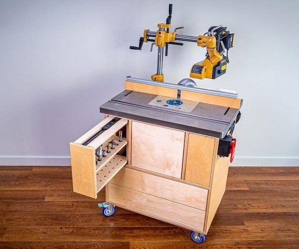 How to Make a ROUTER TABLE W/ Bit Storage & Dust Collection