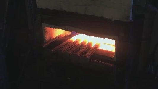 Heating the Railroad Spike