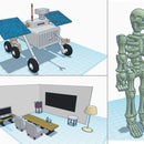 Tinkercad Designs - Rover Skeleton and Home Classroom