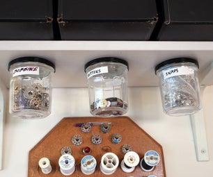 Mounted Storage Jars