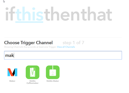 Making IFTTT Channel