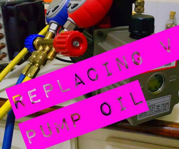 Replacing Refrigeration Vacuum Pump Oil.