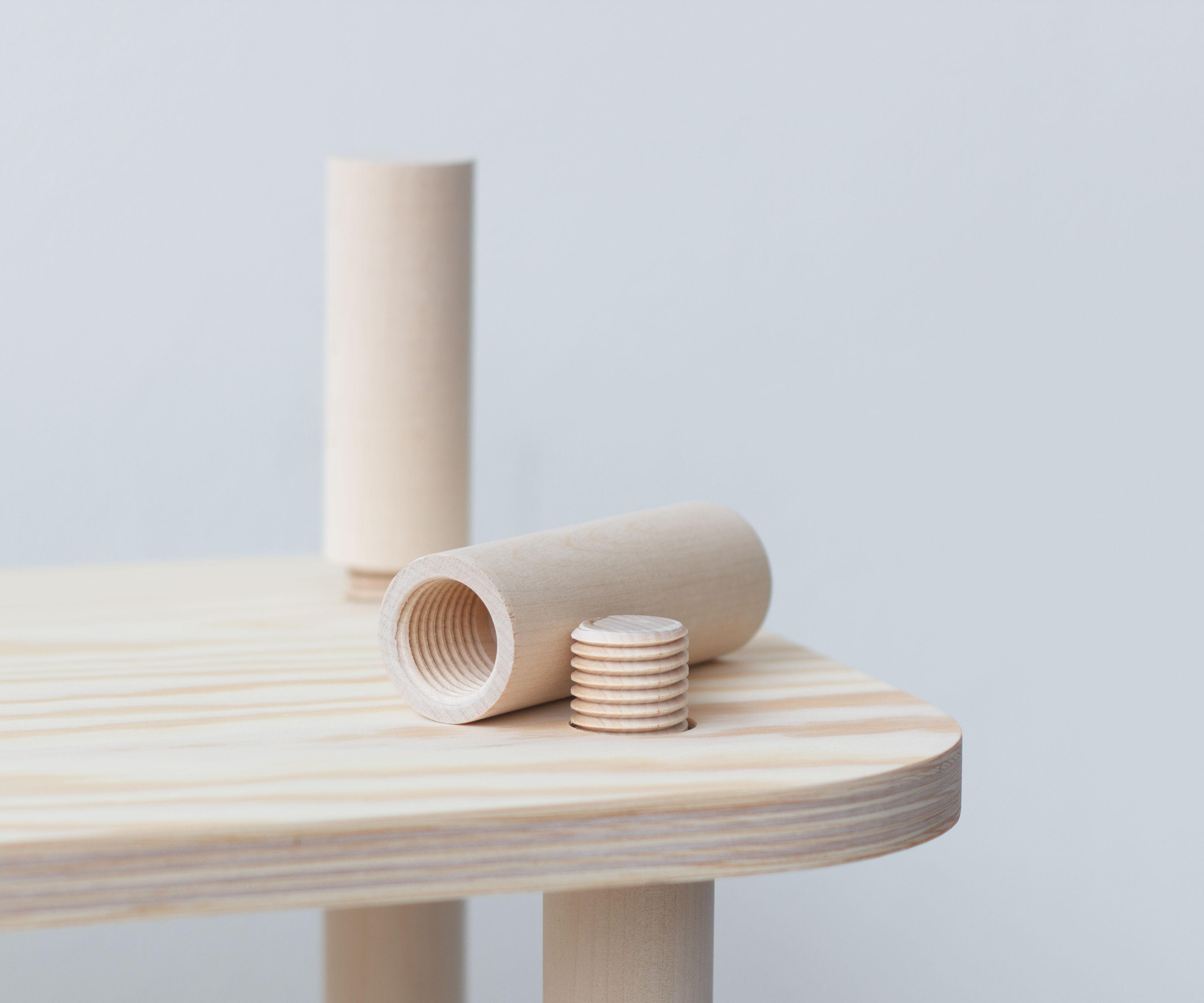TS1 modular shelving (with CNC wood threading)