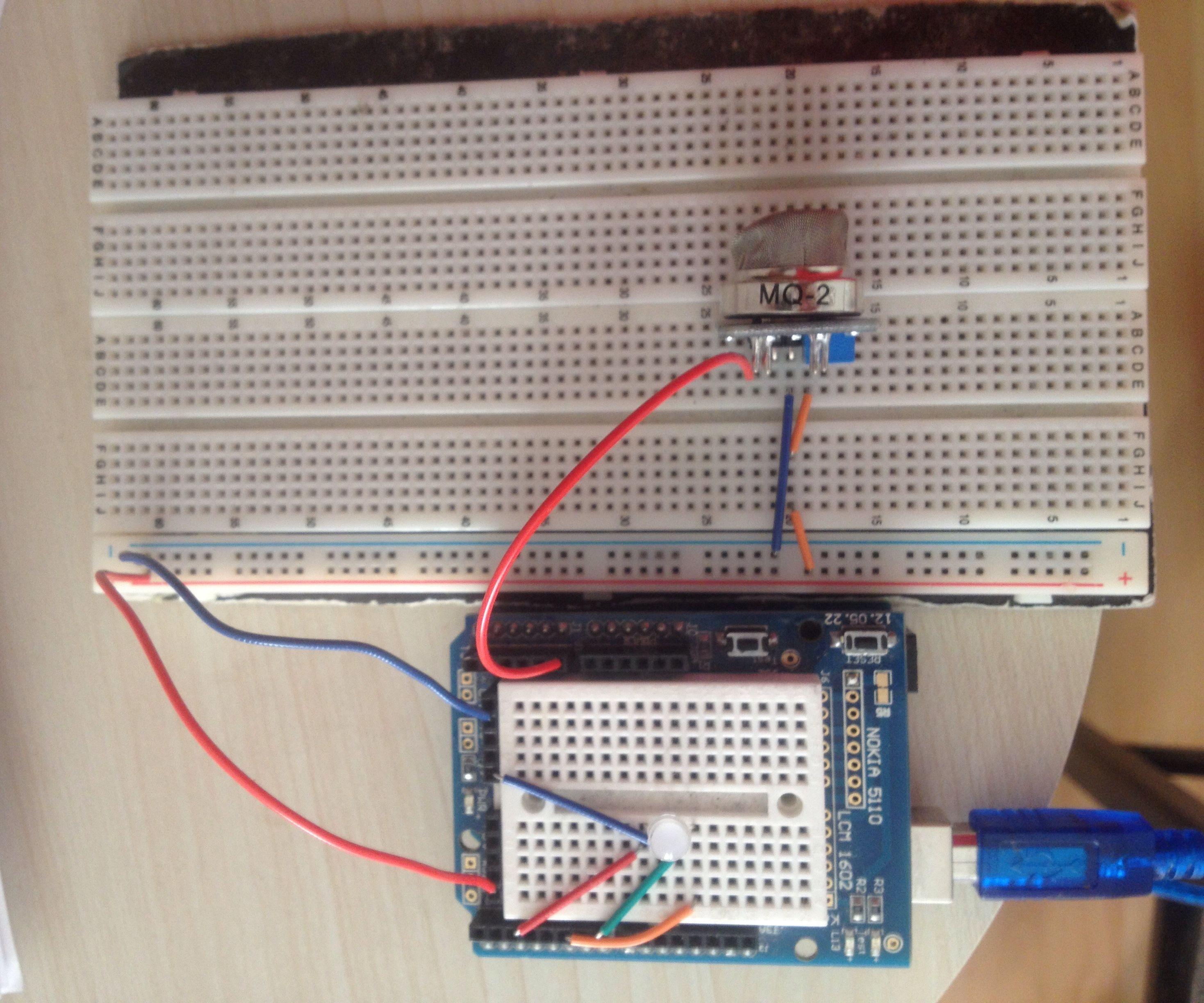 Ardunio Smoke And Gas Sensor(MQ-2)