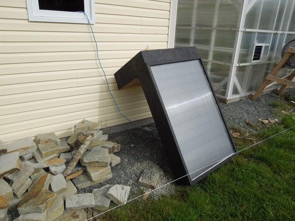 Window Mounted Solar Hot Air Furnace (Aluminum Soffit Based)