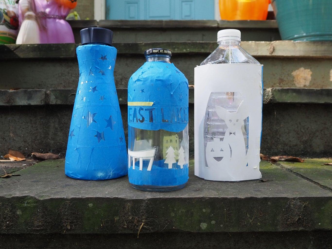 Recycled Bottle Lanterns