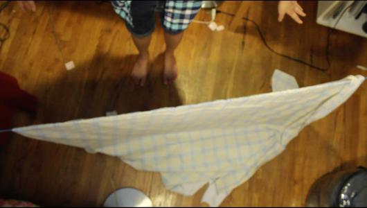 Drape Sheet Over Rope