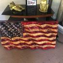 Waving Wood Flag