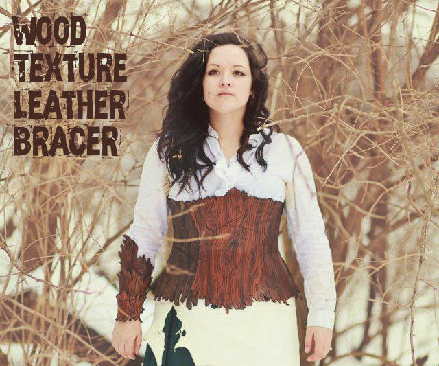 Wood texture leather bracer tutorial