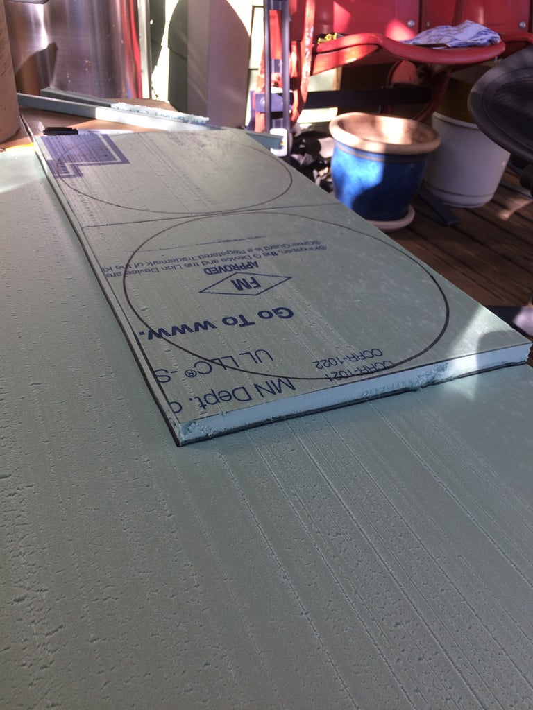 Cut the Top Insulation Board to the Size of Rectangular Lines You Drew.