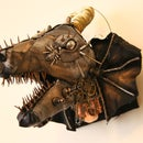 Steampunk Dragon Head With Cardboard