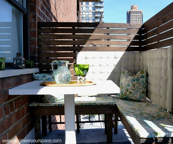 DIY Privacy Panels for a Small Balcony