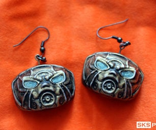 Borderlands Psycho Glow in the Dark Earrings