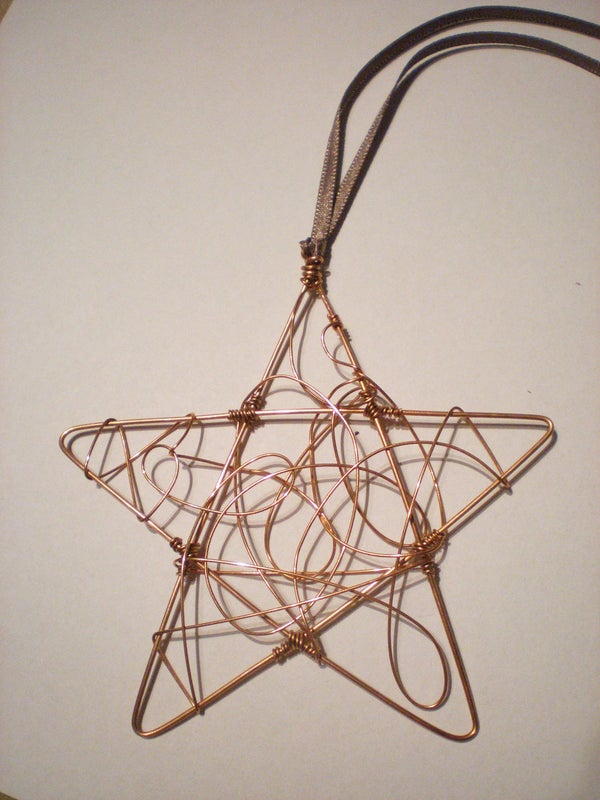 Wire Star Christmas Ornament