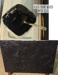 Add More Napkins, Mix Paint With Glue, Cover Whole Thing