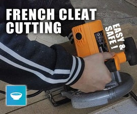 Cutting French Cleat With Circular Saw
