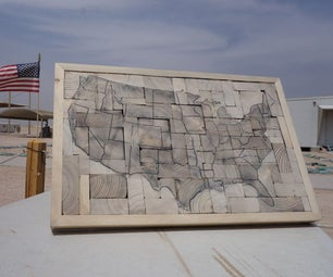United States Map - Recycled Wood Decorative Piece