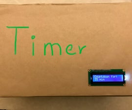Arduino Counting Timer for Announcement