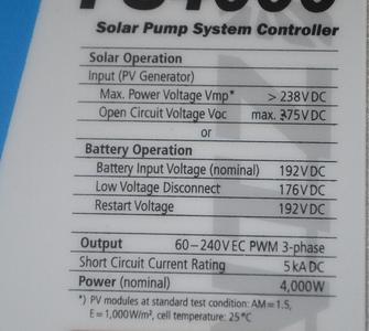 Solar Pump System Controller