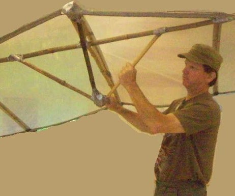Duct Tape/Bamboo/Drop Cloth 'WingKite'