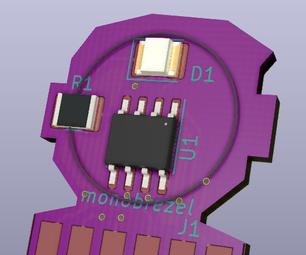 ATtiny Wearable Device - PCB Edge Connector
