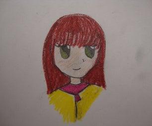 Coloring a Manga Drawing