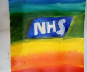 Rainbow NHS Acrylic Painting