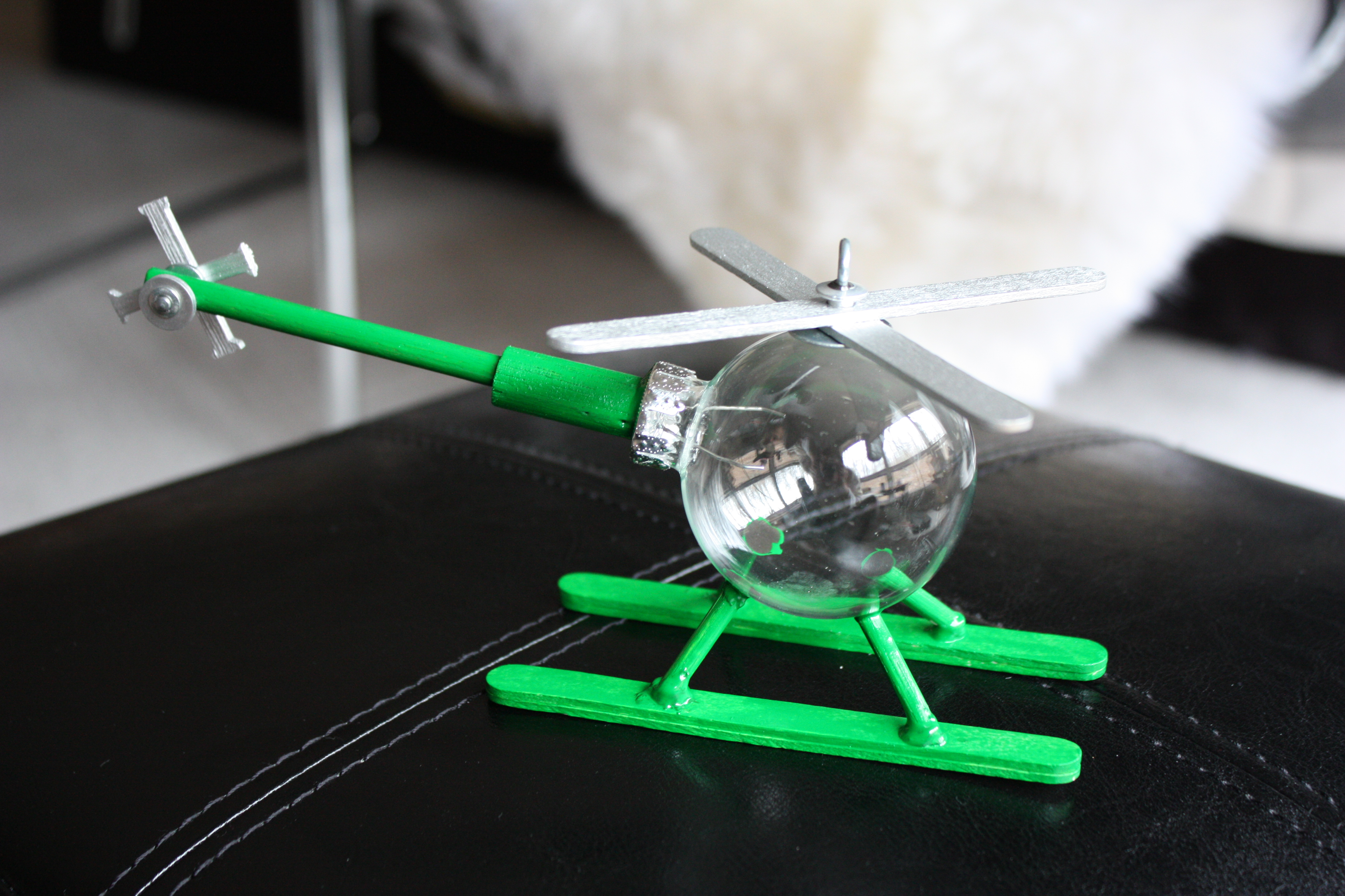 How to Make a Helicopter Ornament