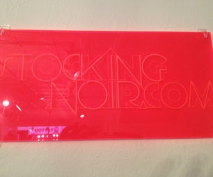 Logo Laser Etched Fluorescent Acrylic Brand Plaques