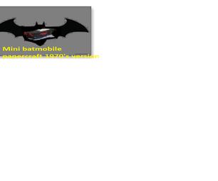 MINI Papercraft Batmobile DIY